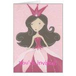 Invitación del fiesta de la princesa felicitaciones