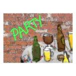 Invitación del fiesta de la prueba de la cerveza d