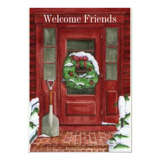 Invitación del fiesta de la puerta del día de invitación 12,7 x 17,8 cm