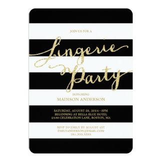 Invitación del fiesta de la ropa interior del