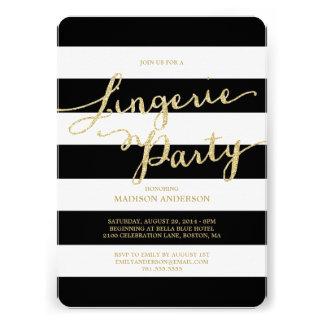 Invitación del fiesta de la ropa interior del bril