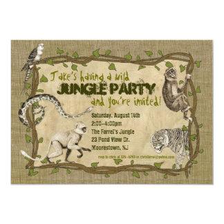 Invitación del fiesta de la selva