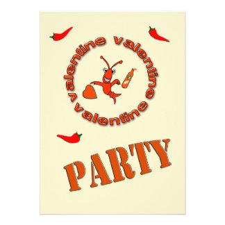 Invitación del fiesta de la tarjeta del día de San