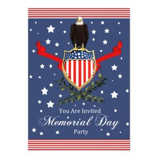 Invitación del fiesta de la tarjeta del Memorial