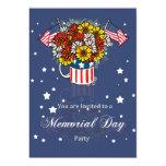 Invitación del fiesta de la tarjeta del Memorial Invitación 12,7 X 17,8 Cm