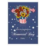 Invitación del fiesta de la tarjeta del Memorial D