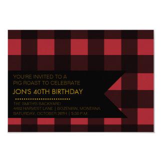 Invitación del fiesta de la tela escocesa