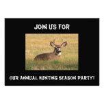 Invitación del fiesta de la temporada de caza de l
