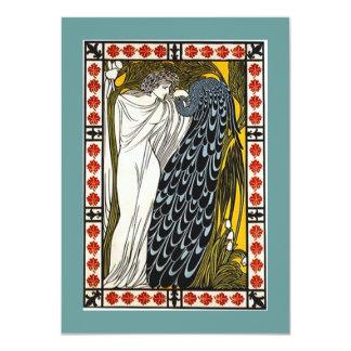 Invitación del fiesta de la toga de la diosa y del