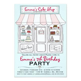 Invitación del fiesta de la torta