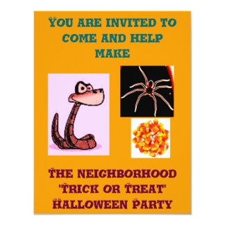 Invitación del fiesta de la vecindad del truco o