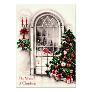 Invitación del fiesta de la ventana del navidad