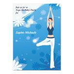 Invitación del fiesta de la yoga de la actitud del