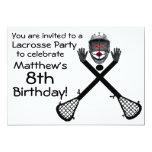 Invitación del fiesta de LaCrosse del cumpleaños Invitación 12,7 X 17,8 Cm