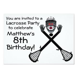 Invitación del fiesta de LaCrosse del cumpleaños