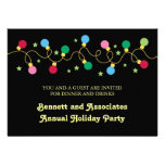Invitación del fiesta de las luces de navidad