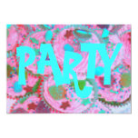 """Invitación del fiesta de las magdalenas rosadas"""" invitación 12,7 x 17,8 cm"""