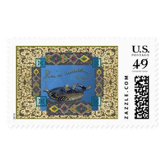 Invitación del fiesta de las noches árabes timbres postales