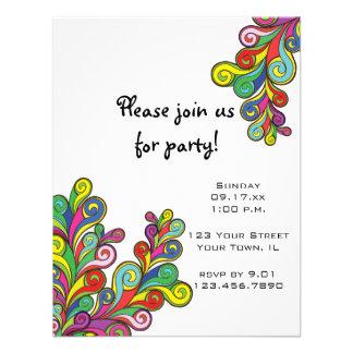 Invitación del fiesta de las ondas del color
