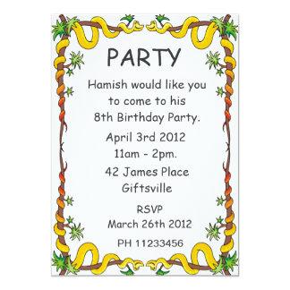 Invitación del fiesta de las serpientes