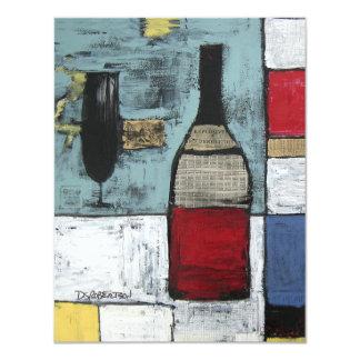 Invitación del fiesta de los amantes del vino -