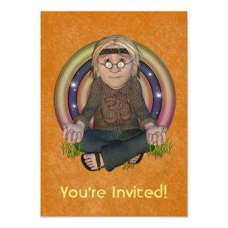 Invitación del fiesta de los años 60 del hippy