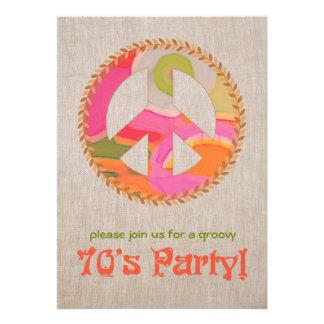 invitación del fiesta de los años 70