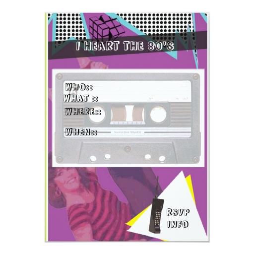 invitación del fiesta de los años 80 | Zazzle