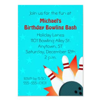 Invitación del fiesta de los bolos del ejemplo de