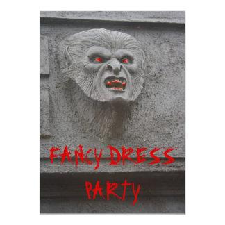 Invitación del fiesta de los caracteres del horror