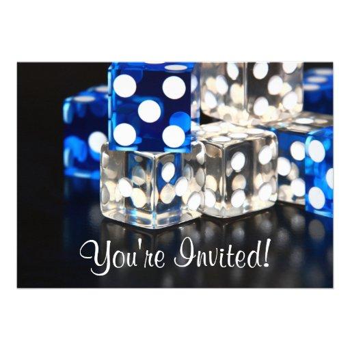 Invitación del fiesta de los dados