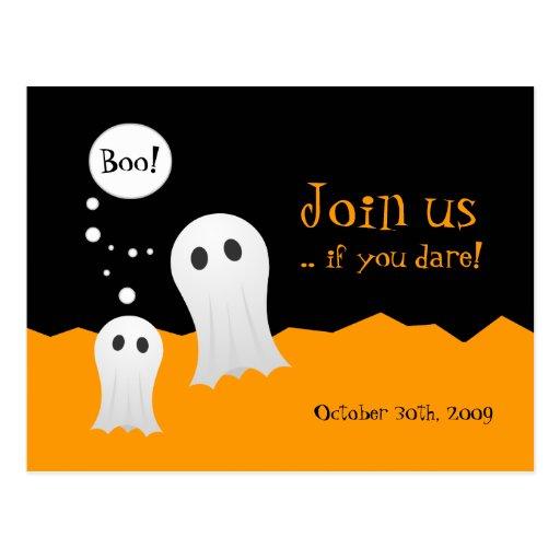Invitación del fiesta de los fantasmas de postal