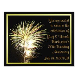 Invitación del fiesta de los fuegos artificiales