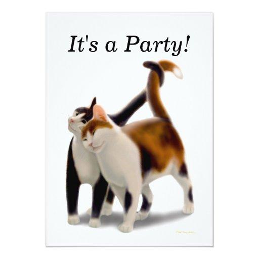 Invitación del fiesta de los gatos de los mejores invitación 12,7 x 17,8 cm