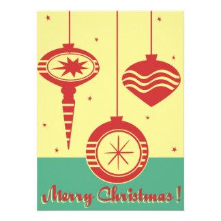 Invitación del fiesta de los ornamentos del navida