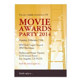 Invitación del fiesta de los premios de la