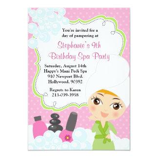 Invitación del fiesta de Mani Pedi del cumpleaños