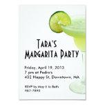 Invitación del fiesta de Margarita Invitación 8,9 X 12,7 Cm