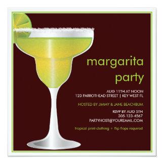 Invitación del fiesta de Margarita del paraíso de