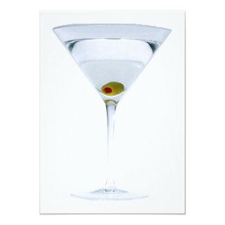 Invitación del fiesta de Martini Invitación 12,7 X 17,8 Cm