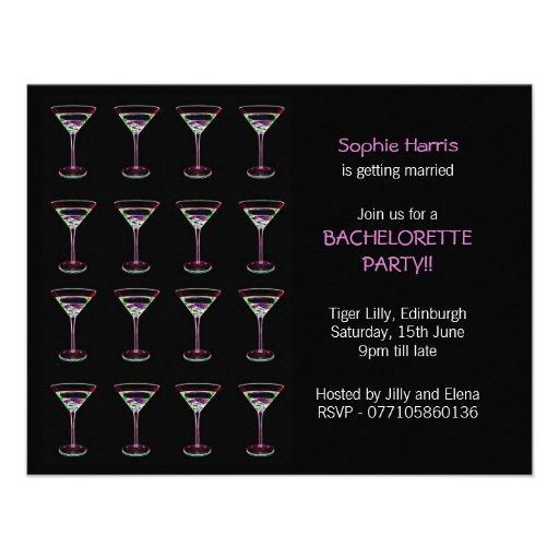 Invitación del fiesta de Martini Bachelorette