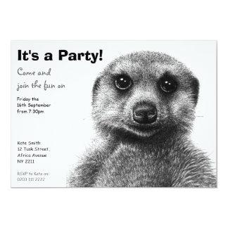 Invitación del fiesta de Meerkat
