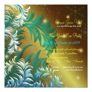 Invitación del fiesta de Noche Vieja del rocío de