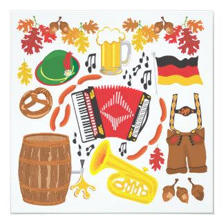 Invitación del fiesta de Oktoberfest
