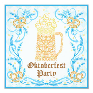 Invitación del fiesta de Oktoberfest Invitación 13,3 Cm X 13,3cm