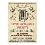 Invitación del fiesta de Oktoberfest del vintage