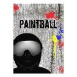Invitación del fiesta de Paintball (diseño 2)