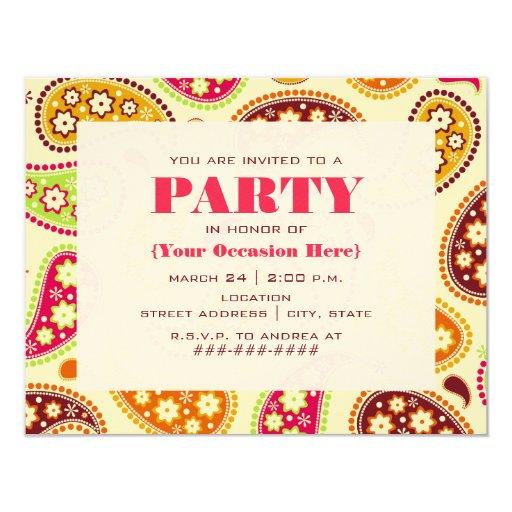 Invitación del fiesta de Paisley