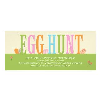 Invitación del fiesta de Pascua de la caza del
