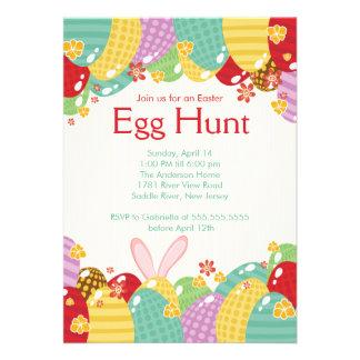 Invitación del fiesta de Pascua de la caza del hue